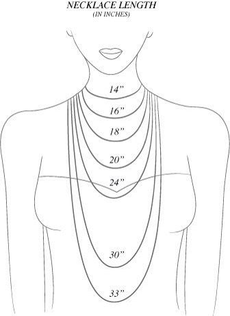 Necklace length guide.