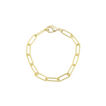 Load image into Gallery viewer, AW Boutique's Paperclip Link Bracelet is a go-to piece that looks great worn on it's own, or can be layered with other fine or bold bracelets due to it's understated style.
