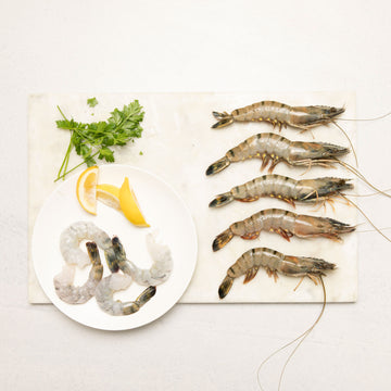 Frozen Black Tiger Prawns (Raw)