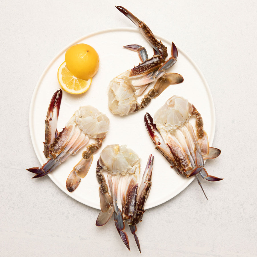 Frozen Blue Swimmer Crab 1/2 Cut (Raw)
