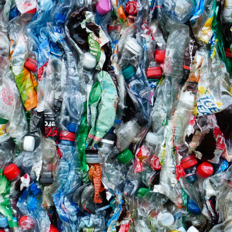 recycled plastic bale