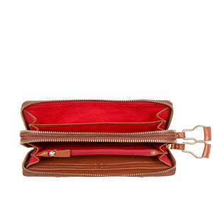 WILD ROSE W2 DOUBLE ZIP AROUND WALLET