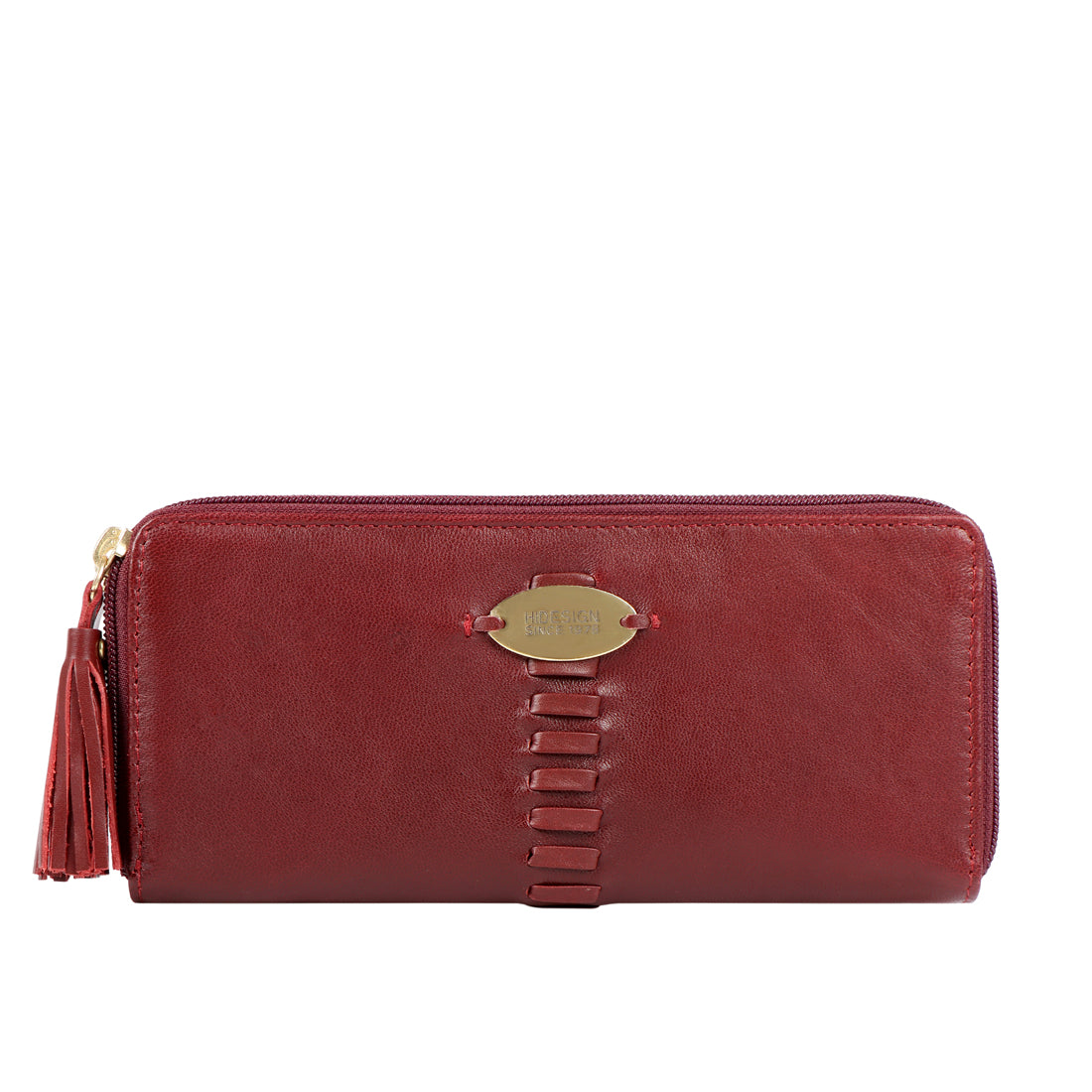 RHUBARB W1 DOUBLE ZIP AROUND WALLET