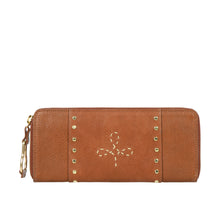Load image into Gallery viewer, WILD ROSE W1 ZIP AROUND WALLET