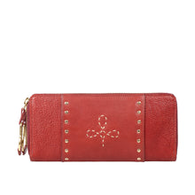 Load image into Gallery viewer, WILD ROSE W2 DOUBLE ZIP AROUND WALLET