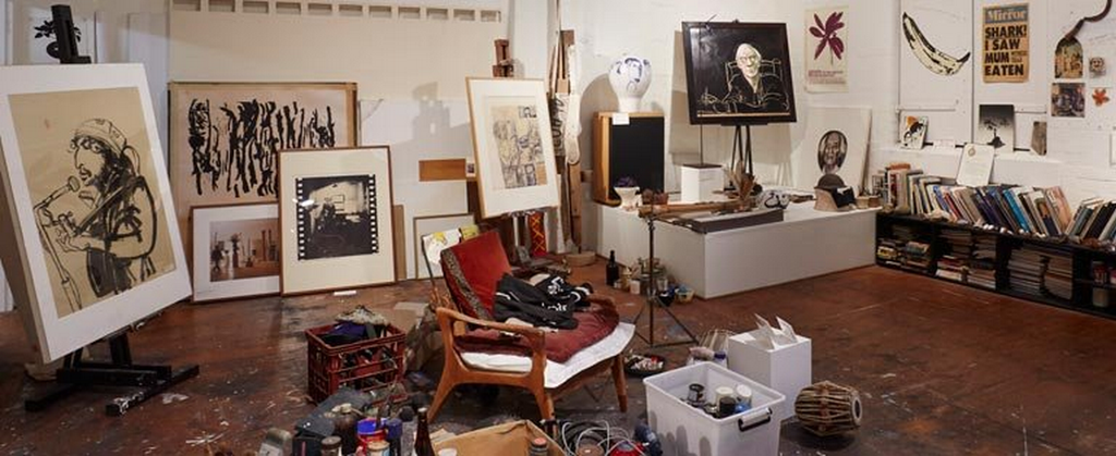 A visit to Brett Whiteley's Studio