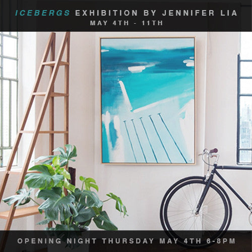 JENNIFER LIA 'ICEBERGS' ART EXHIBITION AT DESIGN TWINS STORE IN SYDNEY