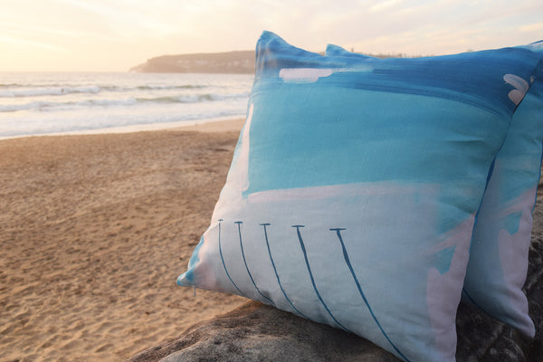 ICEBERGS LINEN CUSHION