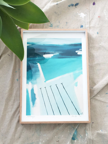 Framed 'Icebergs' paper print A3