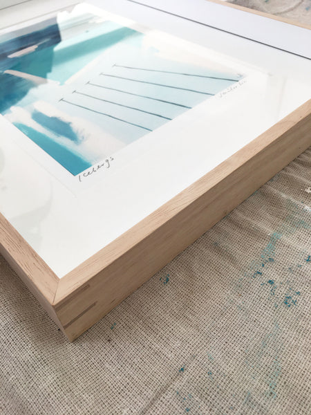 Framed 'Icebergs' paper print - white border