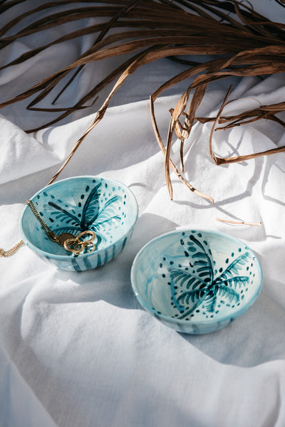 MINI PALM STRIPE BOWL