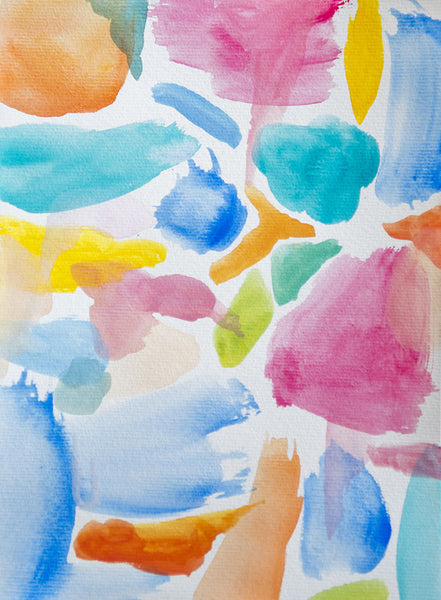 Abstract original watercolour painting on paper 'Sugar Sugar' www.jenniferlia.com