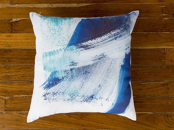 SEA FOAM LINEN CUSHION