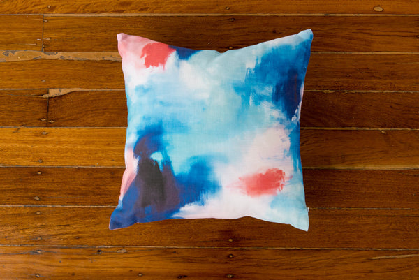 SHALLOWS LINEN CUSHION - STUDIO SALE