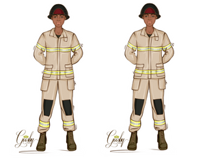 Load image into Gallery viewer, FireFighter Female Doll