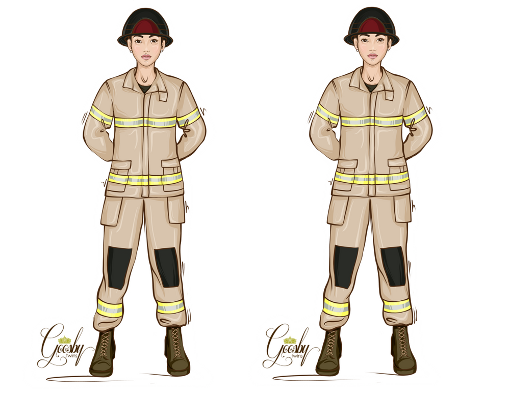 FireFighter Female Doll - goosbytwins