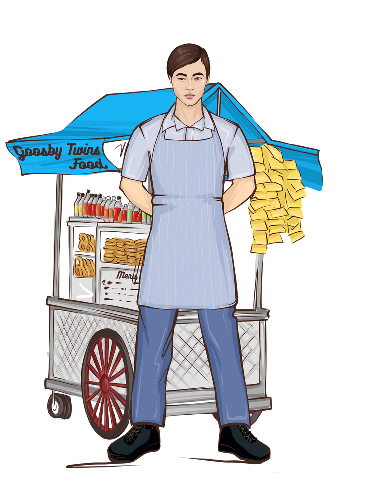 Food Vendor Male Doll - goosbytwins