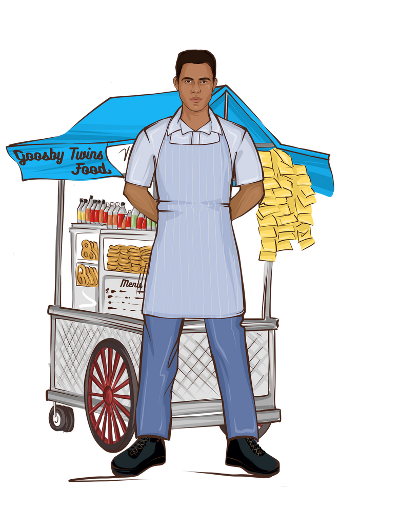 Load image into Gallery viewer, Food Vendor Male Doll - goosbytwins