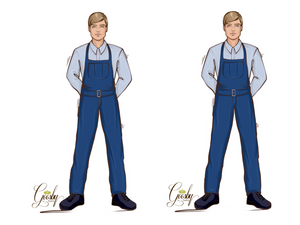 Load image into Gallery viewer, Maintenance Worker Male Doll