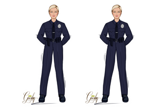 Load image into Gallery viewer, Policewoman Doll