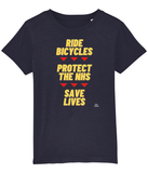 Pedal Threadz T-Shirt Gift Ideas For Cyclists Ride Bicycles Protect The NHS Save Lives - Kids