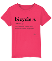 Pedal Threadz Bicycle Definition Kids T-Shirt