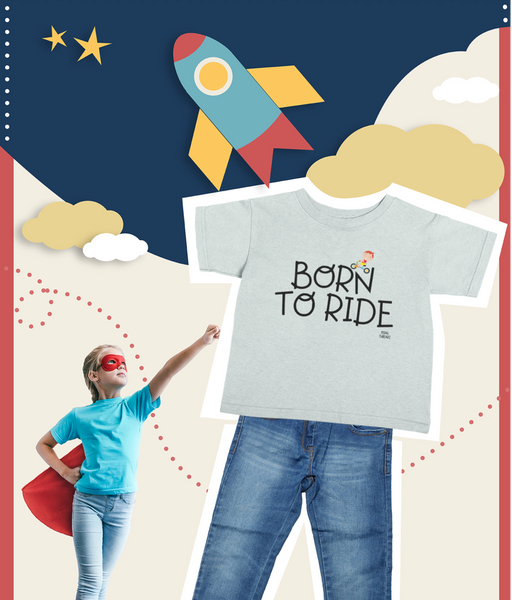 Pedal Threadz Kids Born To Ride Bicycles T-Shirt