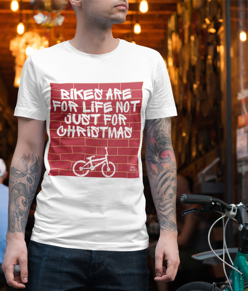 Pedal Threadz - Bikes Are For Life Not Just Christmas Adults Cycling T-Shirt