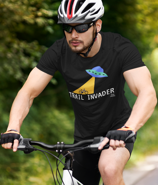 Trail Invader Adults Cycling Gift T-Shirt Pedal Threadz