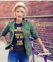 Pedal Threadz T-Shirt Gift Ideas For Cyclists Ride Bicycles Protect The NHS Save Lives - Adults