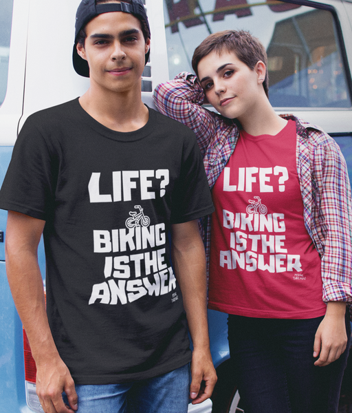 Life? Biking Is The Answer Pedal Threadz T-Shirt