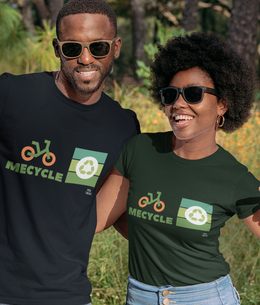 Mecycle Pedal Threadz Cycling T-Shirts Man Woman