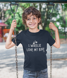 I Wheelie Love My Bike Pedal Threadz Cycling Gift T-Shirts