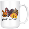 Peace Love Fall Mug