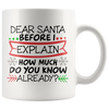 Dear Santa Before I Explain Mug