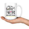 I Run On Coffee Wine and Amazon Prime Mug