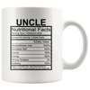 Uncle Nutritional Facts Mug