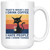 I Drink Coffee I Hate People Antisocial Cat Mug