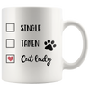 Single Taken Cat Lady Mug