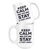 Keep Calm and Stay 6 Feet Away Mug