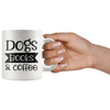 Dogs Books & Coffee Mug