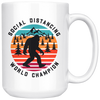 Social Distancing World Champion Mug