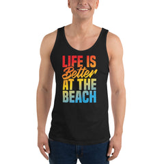 Life Is Better At The Beach Men's Beach Tank Top