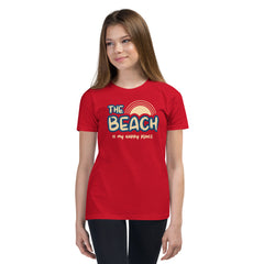 The Beach Is My Happy Place Youth Girls' Beach T-Shirt