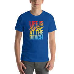 Life Is Better At The Beach Men's Beach T-Shirt