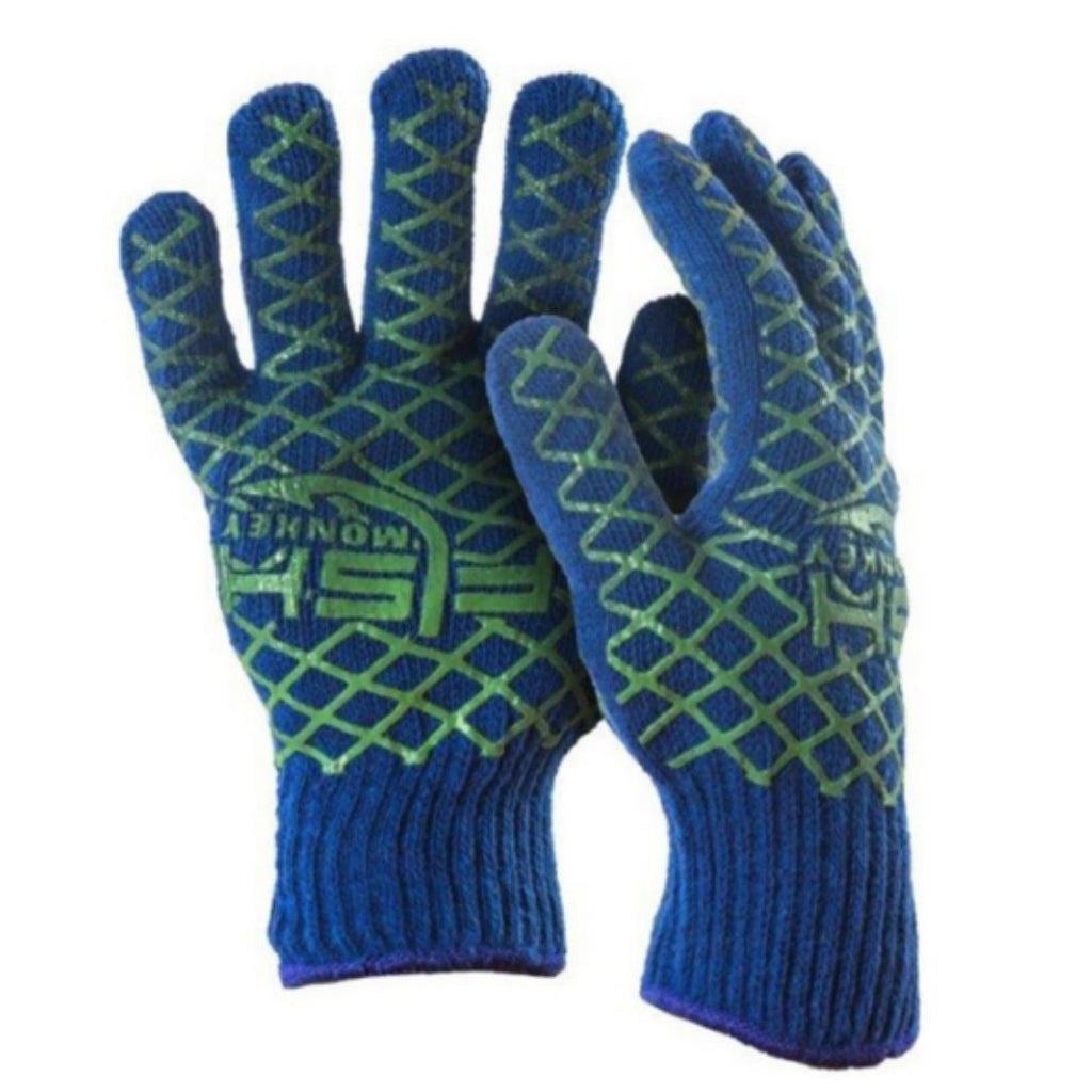 Fish monkey snot glove - neon green/royal talla l