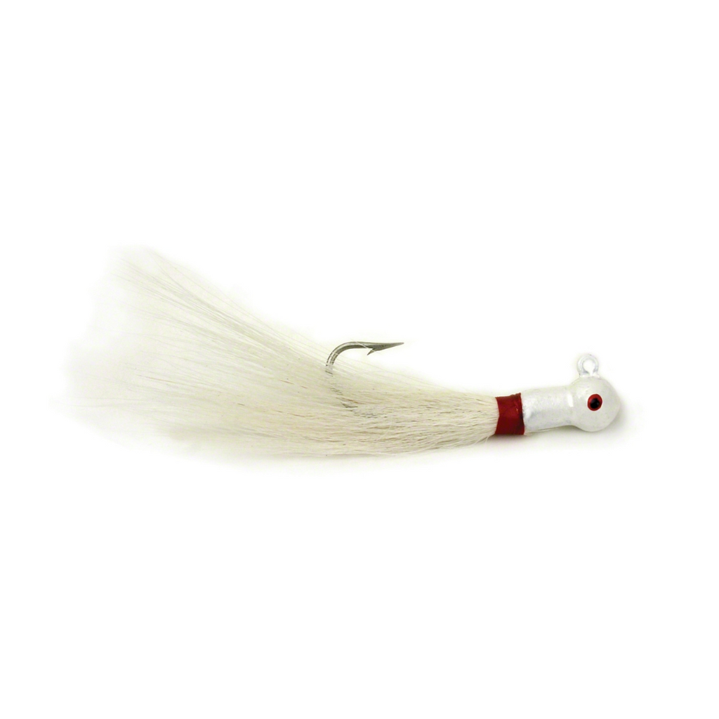 Sea Striker Popeye Bucktail 1oz 7/0 Hook White 6Pk