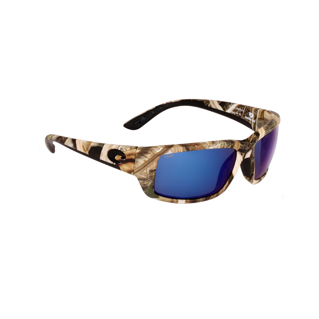 Costa del Mar Fantail Lentes de Sol espejo azul Mossy Oak Shadow