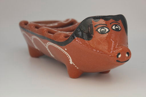Hand-painted Pottery Sausage Roaster (pc)