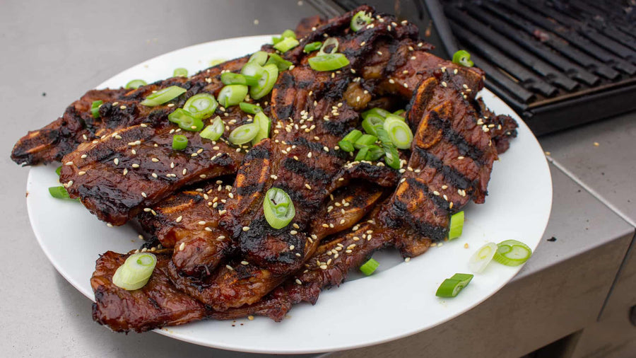 Kalbi Short Ribs - Seasoned Korean BBQ Ribs (4 pc/pkg)